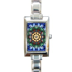 Smoke art  (10) Rectangular Italian Charm Watch