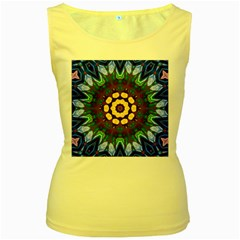 Smoke art  (10) Womens  Tank Top (Yellow)