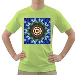 Smoke art  (10) Mens  T-shirt (Green)