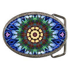 Smoke art  (10) Belt Buckle (Oval)