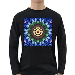 Smoke art  (10) Mens' Long Sleeve T-shirt (Dark Colored)