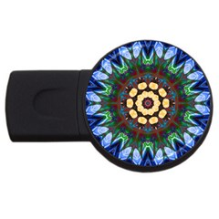 Smoke Art  (10) 4gb Usb Flash Drive (round)