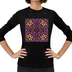 Smoke Art  (11) Womens' Long Sleeve T-shirt (Dark Colored)