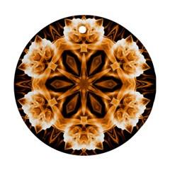 Smoke art (12) Round Ornament