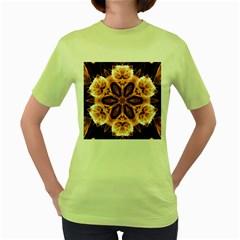 Smoke art (12) Womens  T-shirt (Green)