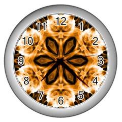 Smoke Art (12) Wall Clock (silver)