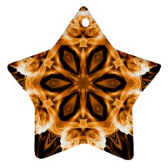 Smoke art (12) Star Ornament (Two Sides)