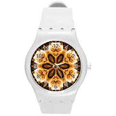 Smoke art (12) Plastic Sport Watch (Medium)