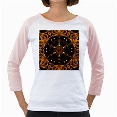 Smoke art (13) Womens  Long Sleeve Raglan T-shirt (White)