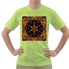 Smoke art (13) Mens  T-shirt (Green)