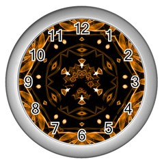 Smoke Art (13) Wall Clock (silver)