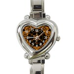 Smoke art (13) Heart Italian Charm Watch  Front