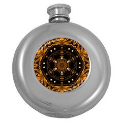 Smoke art (13) Hip Flask (Round)