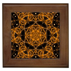Smoke art (14) Framed Ceramic Tile
