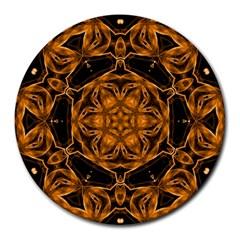 Smoke art (14) 8  Mouse Pad (Round)