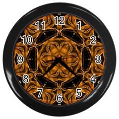 Smoke Art (14) Wall Clock (black)