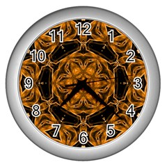 Smoke art (14) Wall Clock (Silver)