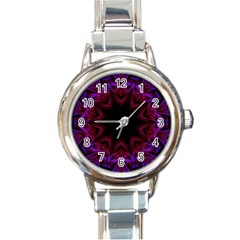 Smoke art  (15) Round Italian Charm Watch