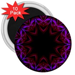 Smoke art  (15) 3  Button Magnet (10 pack)