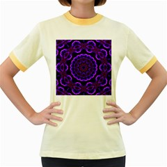 (16) Womens  Ringer T-shirt (Colored)