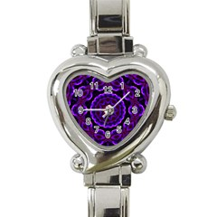 (16) Heart Italian Charm Watch