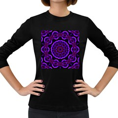 (16) Womens' Long Sleeve T-shirt (Dark Colored)