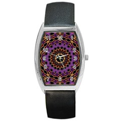 Smoke art (18) Tonneau Leather Watch