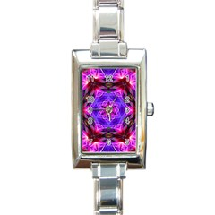 Smoke Art (19) Rectangular Italian Charm Watch