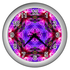 Smoke Art (19) Wall Clock (silver)