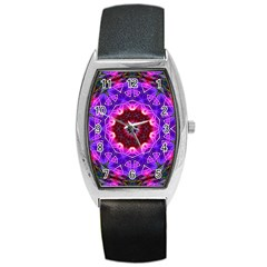 Smoke Art (20) Tonneau Leather Watch