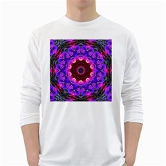 Smoke Art (20) Mens' Long Sleeve T Shirt (white)