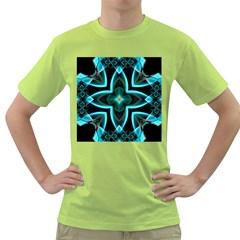 Smoke art (21) Mens  T-shirt (Green)