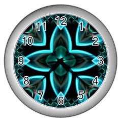 Smoke art (21) Wall Clock (Silver)