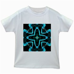 Smoke art (21) Kids' T-shirt (White)