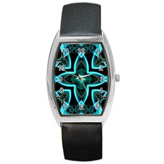 Smoke Art (21) Tonneau Leather Watch