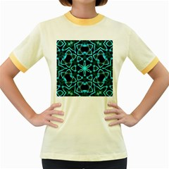 Smoke art (22) Womens  Ringer T-shirt (Colored)