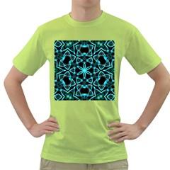 Smoke art (22) Mens  T-shirt (Green)