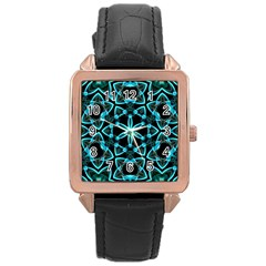Smoke art (22) Rose Gold Leather Watch