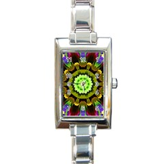 Smoke art (23) Rectangular Italian Charm Watch