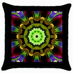 Smoke Art (23) Black Throw Pillow Case
