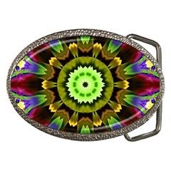 Smoke art (23) Belt Buckle (Oval)