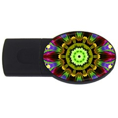 Smoke art (23) 1GB USB Flash Drive (Oval)