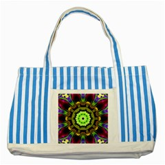 Smoke art (23) Blue Striped Tote Bag