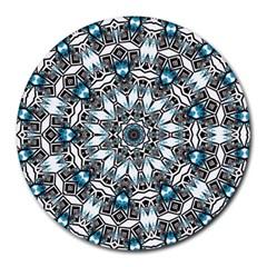 Smoke art (24) 8  Mouse Pad (Round)