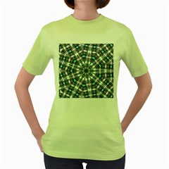 Smoke art (24) Womens  T-shirt (Green)