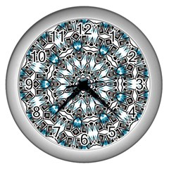 Smoke art (24) Wall Clock (Silver)