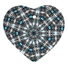 Smoke art (24) Heart Ornament (Two Sides)