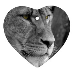 Lion 1 Heart Ornament (Two Sides)