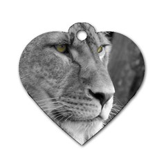 Lion 1 Dog Tag Heart (One Sided)