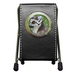 Ring Tailed Lemur  2 Stationery Holder Clock